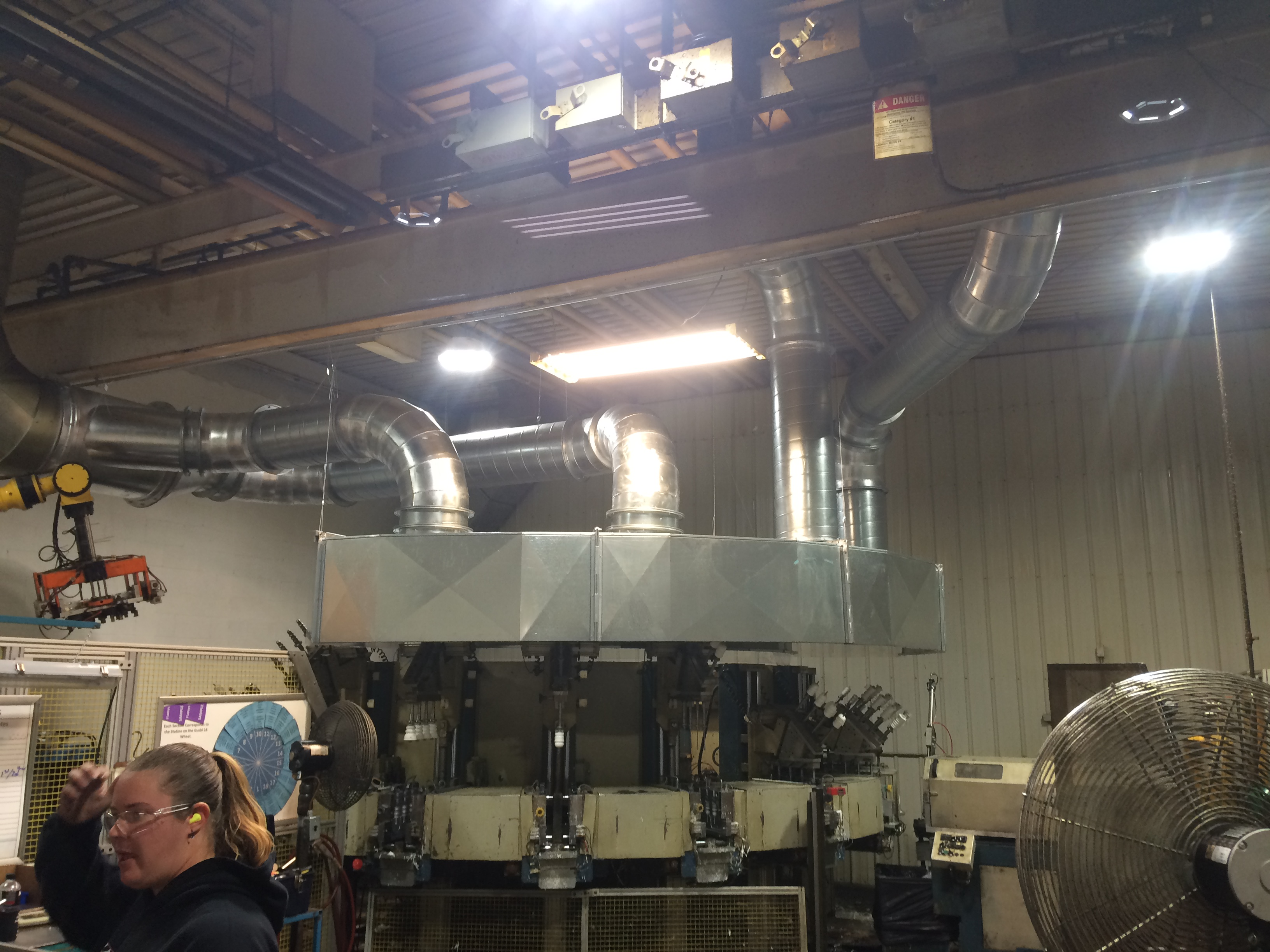 Design, fabricate and installation of robotic hood and ductwork